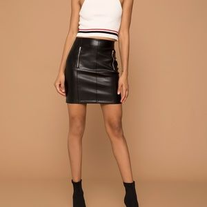 Kendall + Kylie faux leather skirt